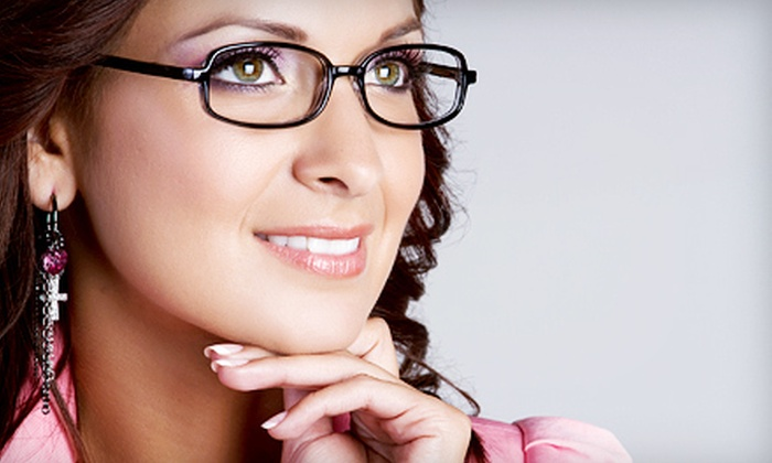 EyeMax Eyecare - Multiple Locations: Eye Exams and Prescription Lenses at EyeMax Eyecare (Up to 93% Off). Three Options Available.
