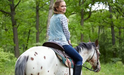 image for Horseback Ride for One or Two, or Horseback Ride with Intro Lesson (Up to 54% Off)