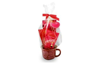 Lindor Lindt Valentine Chocolate Mug Gift Basket