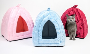 Faux Fur Igloo Cat Bed