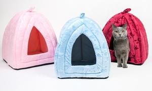 Faux Fur Igloo Cat Bed