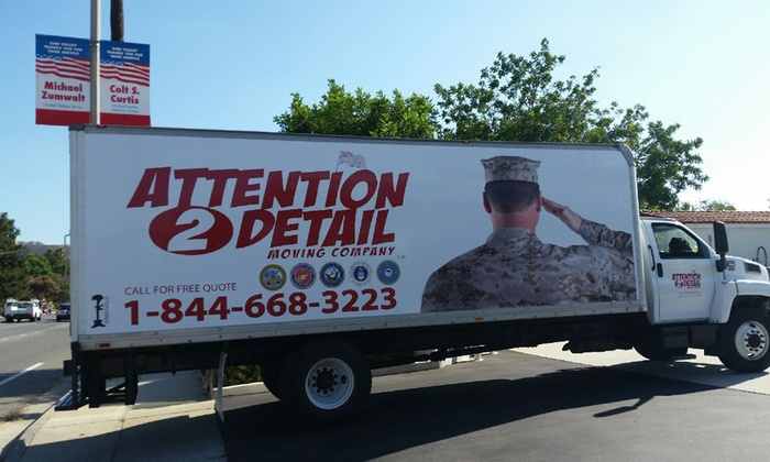 Attention 2 Detail Moving - Ventura County: Three Hours of Moving Services from Attention 2 Detail Moving (51% Off)