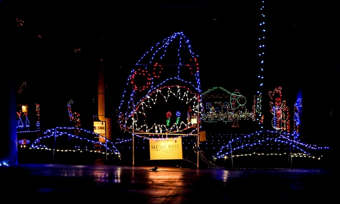Drive through holiday lights glittering lights groupon for Motor speedway las vegas christmas lights