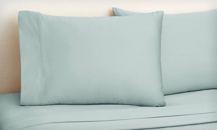 Royal Sateen 650-Thread-Count Sheet Set: Four-Piece Royal Sateen 650-Thread-Count Sheet Set (Up to 73% Off). Multiple Sizes and Colors Available.