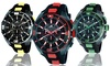Adee Kaye Men's Sports Chronograph Watch: Adee Kaye Men's Sports Chronograph Watch