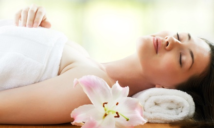 Cleansing Facial, Massage, and Express Mani-Pedi for One or Two at AJ's Spa Millennium (Up to 62% Off)