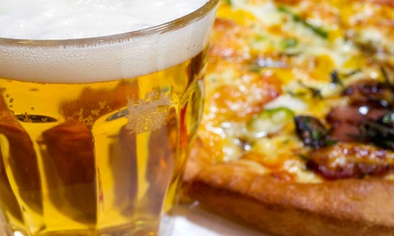 One Pizza with Two Craft Beers or Two Pizzas with Four Craft Beers at Minhas Micro Brewery (Up to 55% Off)