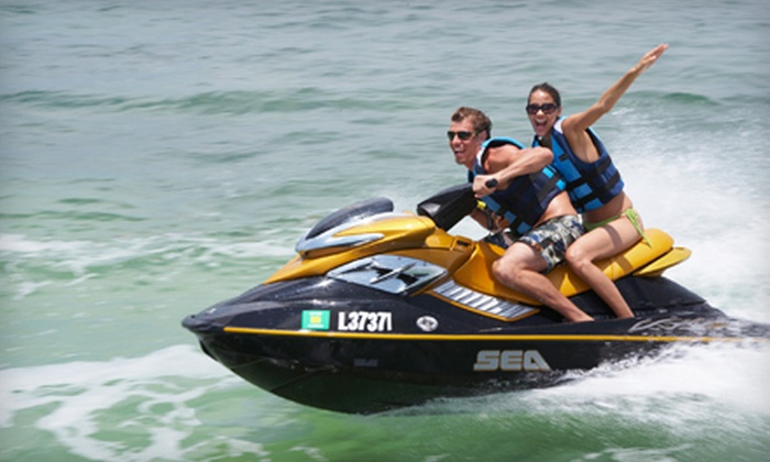 Rockaway Jet Ski at Thai Rock - Rockaway Beach, NYC: $42 for 30 Minutes of Jet Skiing for Two and Two Drinks, Valid Monday–Thursday at Rockaway Jet Ski at Thai Rock in Rockaway Beach ($85 Value)
