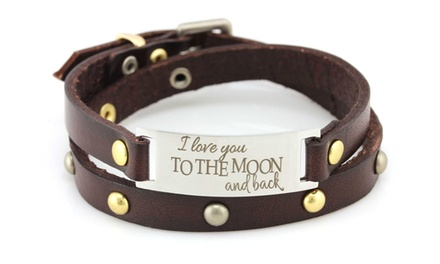 One Inspirational Leather Bracelet from Balla Bracelets (Up to $119.99 Value)
