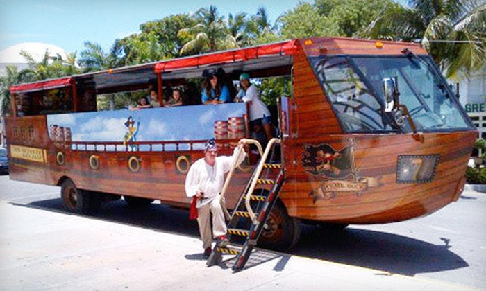 Miami Land & Sea Pirate Adventure - Miami Pirate Duck Tours: $32 for a 90-Minute Duck-Boat Tour for Two from Miami Land & Sea Pirate Adventure (Up to $64 Value)