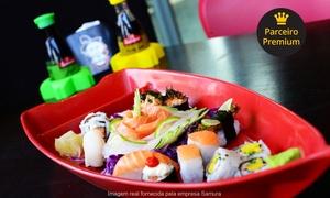 Samura comida japonesa: Samura Comida Japonesa – 2 unidades: combinado de 20 ou 57 peças ou yakissoba de frango