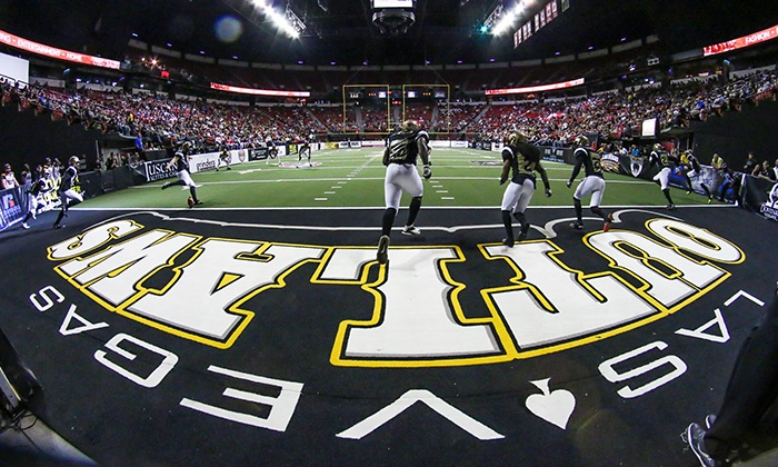 Las Vegas Outlaws - Thomas and Mack Center: Las Vegas Outlaws Arena Football Game for Two at Thomas and Mack Center on June 28, July 25, or August 8 (Up to 85% Off)