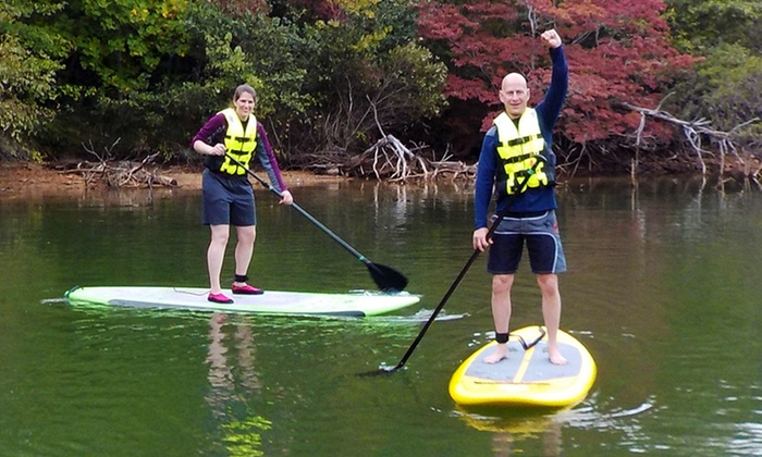 Triad ECO Adventures - Downtown Winston-Salem: Introductory Standup-Paddleboard Lesson for One or Two from Triad ECO Adventures (Up to 42% Off)