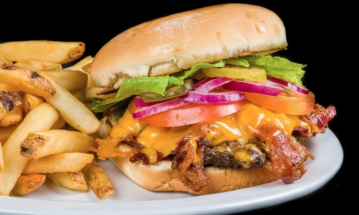 The Burger Barn - Multiple Locations: Burger Joint Entrees at The Burger Barn (Up to 40% Off). Mobile Redemption Only.