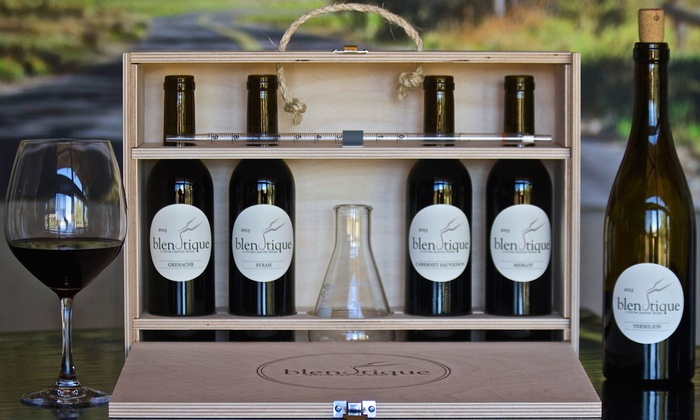 Wine Blending Kit with Optional Custom Bottles, and Custom-Labeled Wines from Blendtique Wine Company ( 44% Off )