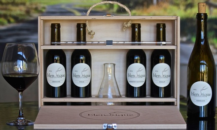 Wine Blending Kit with Optional Custom Bottles, and Custom-Labeled Wines from Blendtique Wine Company (Up to 44% off)