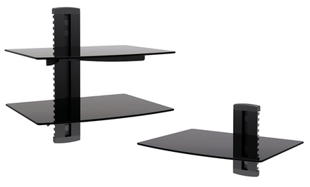 Argom Adjustable Wall-Mount AV Component Shelves