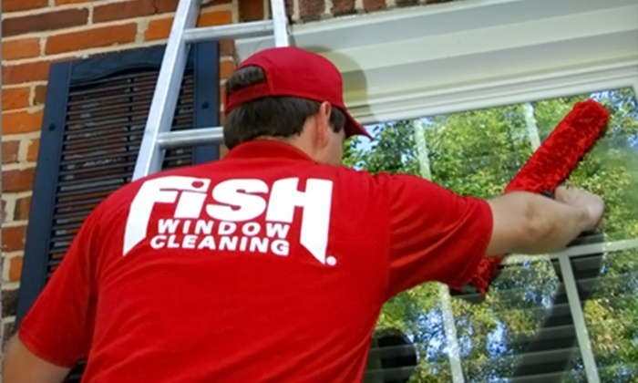 Fish Window Cleaning - Fairfield County: $78 for Window Cleaning, Gutter Cleaning, and Related Services from Fish Window Cleaning ($150 Value)