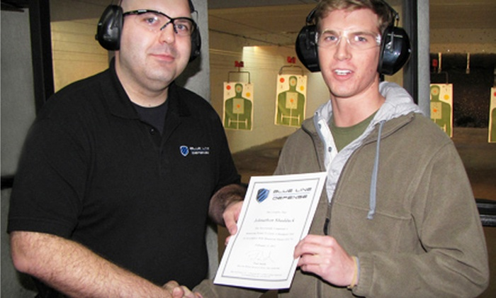 Blue Line Defense - Multiple Locations: Six-Hour Permit-to-Carry Firearms Course for One or Two at Blue Line Defense (58% Off)