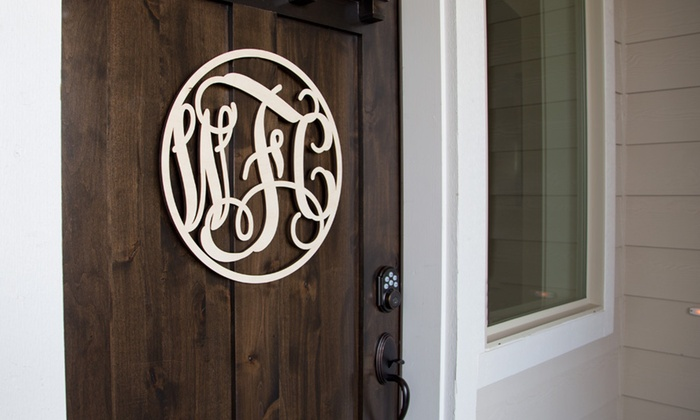Monogram Wall Art monogram wall art - craftcuts | groupon