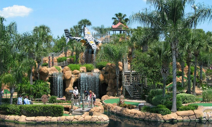 Congo River Golf - Multiple Locations: Mini-Golf Round and Bag of Gator Food for Two or Four at Congo River Golf (Half Off)