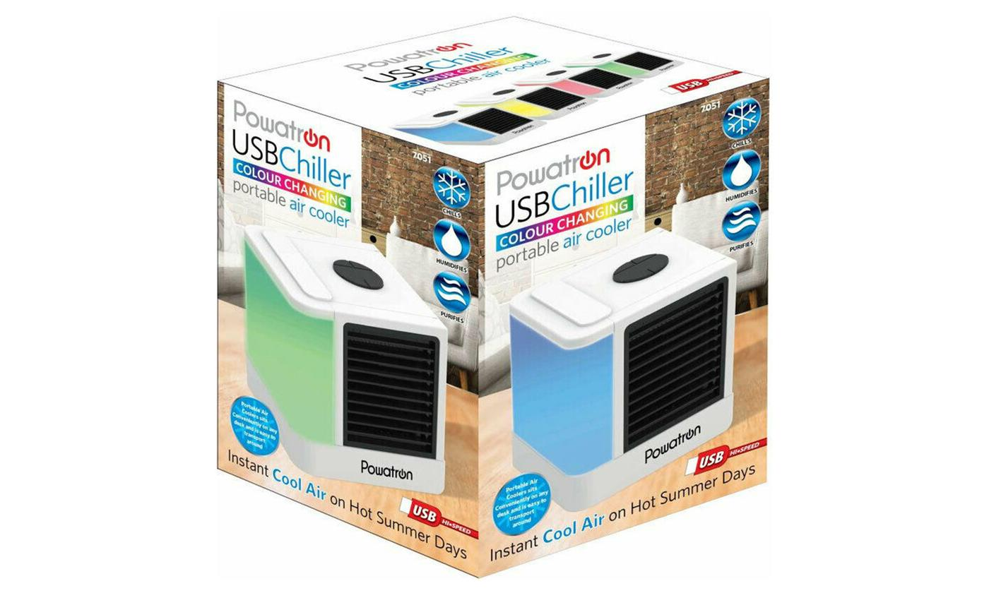 Colour-Changing USB Portable Air Cooler