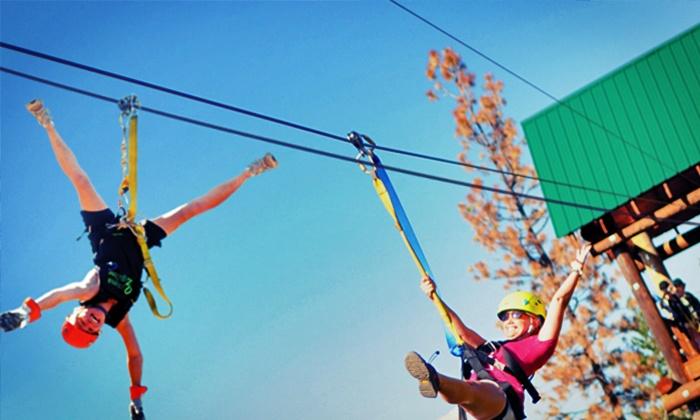Oyama Zipline Forest Adventure - Oyama: Three-Hour All-Inclusive Ziplining Adventure for Two or Four at Oyama Zipline Forest Adventure (Up to 37% Off)