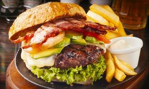 Venti 136: Cena di carne con antipasto, hamburger di 120 g a scelta e birra (sconto fino a 66%)
