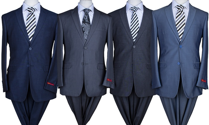 Eleganza Slim Fit 2-PC Suits | Groupon Goods