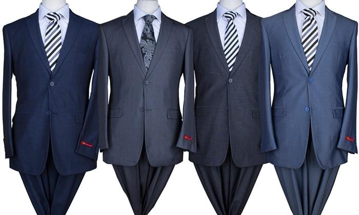 Eleganza Slim Fit 2-PC Suits | Groupon Goods