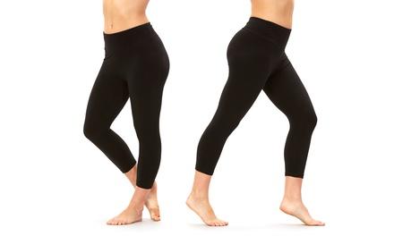 Balance Collection Women's Dry-Wik Capri Leggings (2-Pack)