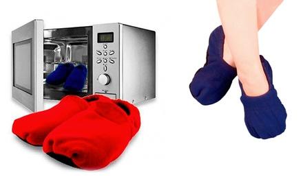 Zapatillas calentables en el microondas