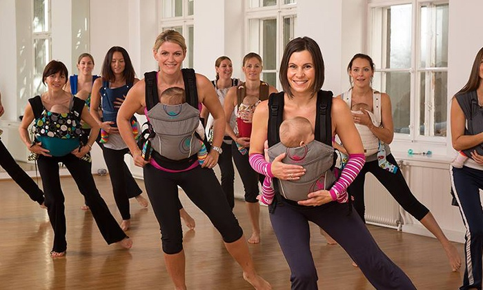 Kangatraining - Multiple Locations: 5, 10, or 20 Mommy and Baby Fitness Classes at Kangatraining (Up to 65% Off)