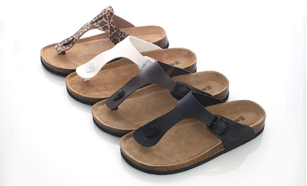 Rasolli Women's Footbed Sandals. Multiple Colors Available. Free Returns.
