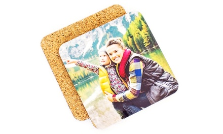 Four or Eight Custom Photo Coasters from Collage.com (Up to 66% Off)