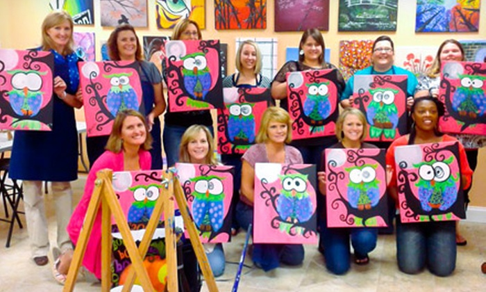 The Cabernet Canvas - Anderson: BYOB Painting Class for One or Two at The Cabernet Canvas (Up to 54% Off)