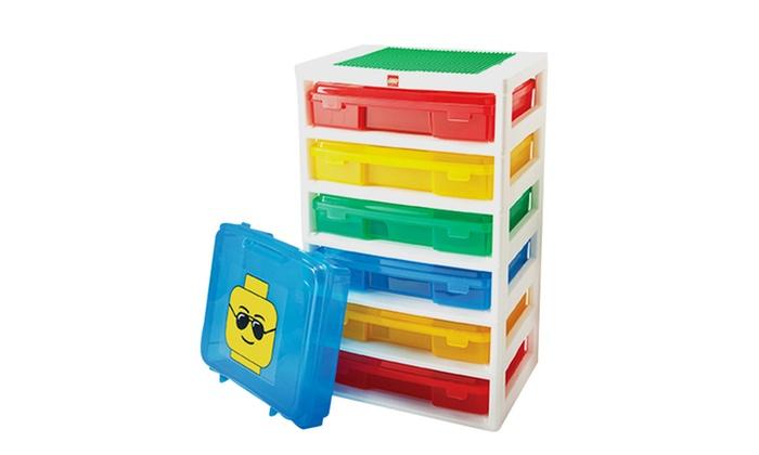 6 case lego workstation groupon goods - Boites rangement lego ...