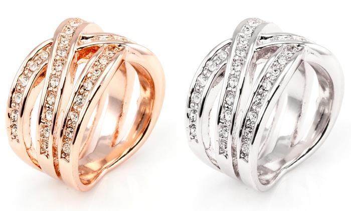 72895d05a2ce Anillo con cristales Swarovski® | Groupon Goods