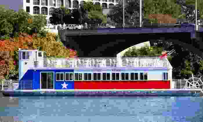 Lone Star Riverboat - Lady Bird Lake: Friday Night Moonlight Cruise for Two or Four from Lone Star Riverboat (50% Off)