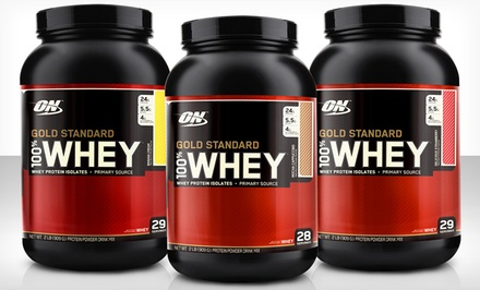 2lb. Optimum Nutrition Gold Standard Whey-Protein Tub with Shaker Bottle