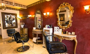 Lu Lu Salon & Skin Care: Keratin Treatment, Haircut, or Haircut with Partial Highlights at Lu Lu Salon & Skin Care (Up to 74% Off)