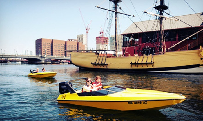 Boston Harbor Mini Speed Boats, Inc. - North End: 90-Minute Captain-Your-Own Mini-Speedboat Experience with Photo Package During the 2013 Season (Up to 55% Off)