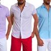 Suslo Couture Men's Linen Button-Down Shirt