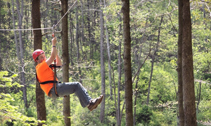 Lark Valley Zip Lines - French Lick: $59 for a Zipline Adventure for Two from Lark Valley Zip Lines in French Lick Area (Up to $118 Value)
