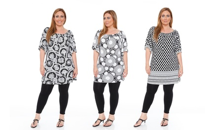 Thyra Women's Plus Size Tunic Dress