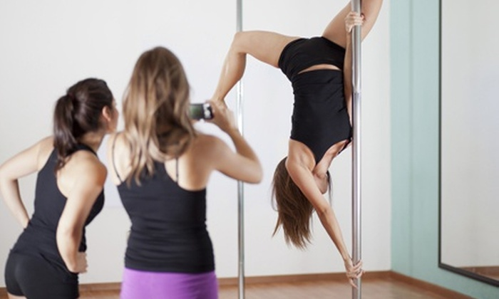 Miss Pole - Multiple Locations: Girls Night Out Pole Dancing Workshop for a Group of Two, Four, or Six at Miss Pole (Up to 65% Off)