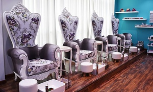 Nedra L'atelier De Coiffure: Classic or Gelish Manicure, Pedicure or Both at Nedra L'atelier De Coiffure (Up to 61% Off)