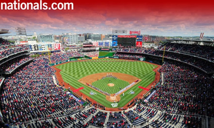 Washington Nationals - Nationals Park: Washington Nationals Baseball Game at Nationals Park (Up to Half Off). Five Games and Three Seating Options Available.