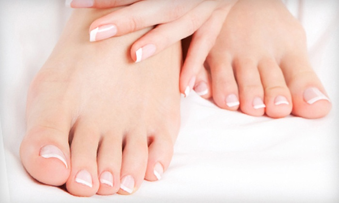 Nails by Salina - Fairfield: Signature Mani-Pedi or Pink-and-White Acrylic Set at Nails by Salina (Up to 53% Off)