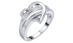 Forever In Love Heart Ring with Swarovski Elements in Sterling Silver at Forever In Love Heart Ring with Swarovski Elements in Sterling Silver, plus 9.0% Cash Back from Ebates.